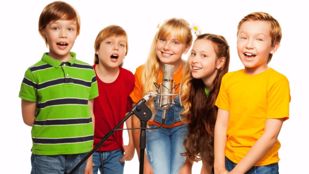 Kids-Gruppe Tonstudio