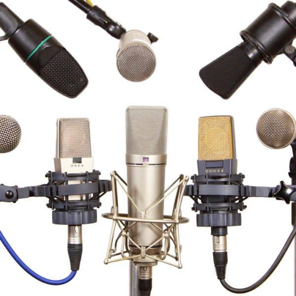 Mikrofon-Sammlung im Cubetribe Tonstudio