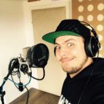Raphael bei der Aufnahme im Cubetribe Tonstudio